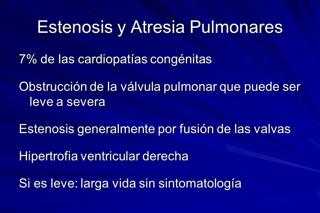 Estenosis y Atresia Pulmonares