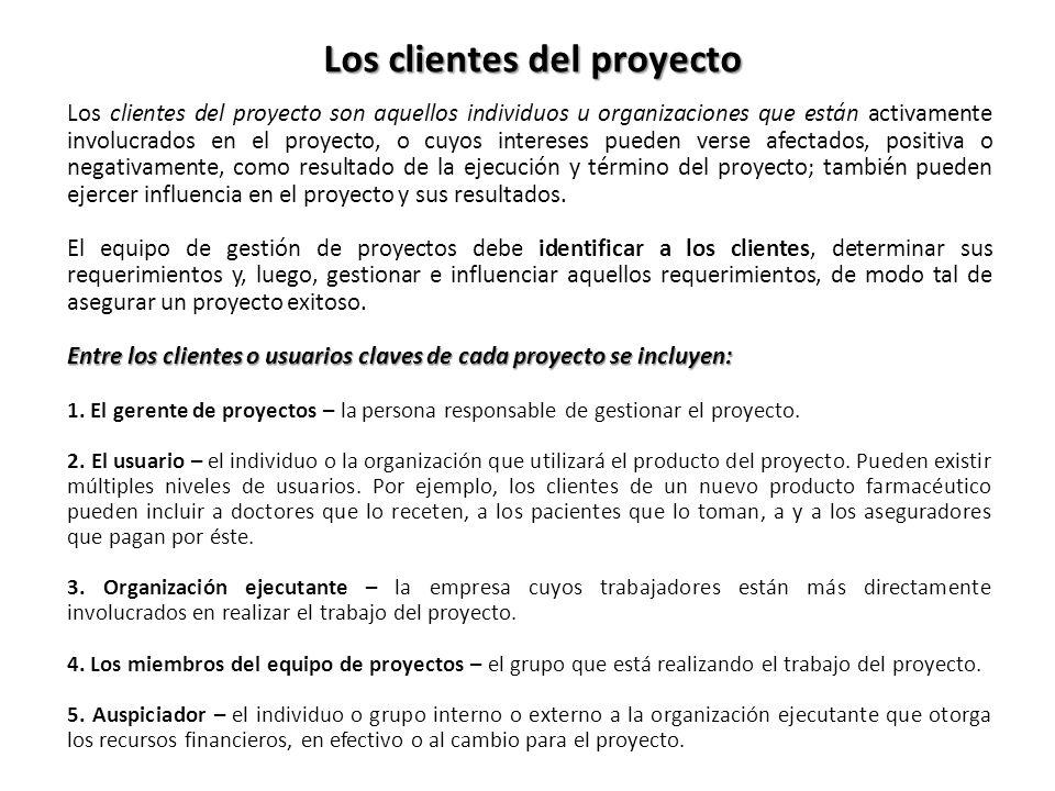 Los clientes del proyecto
