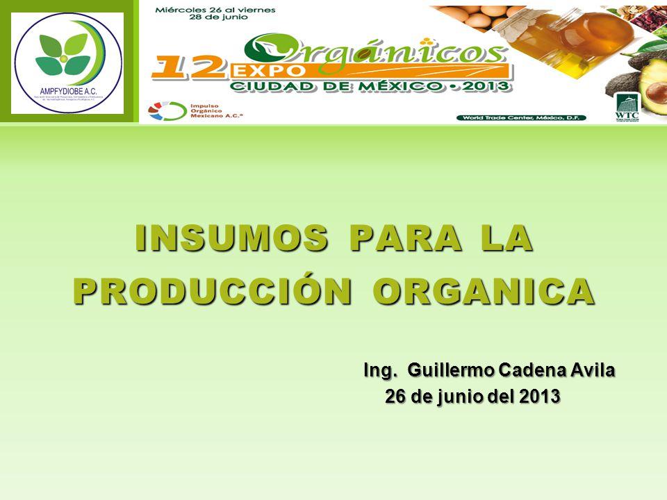 insumos para la producción organica