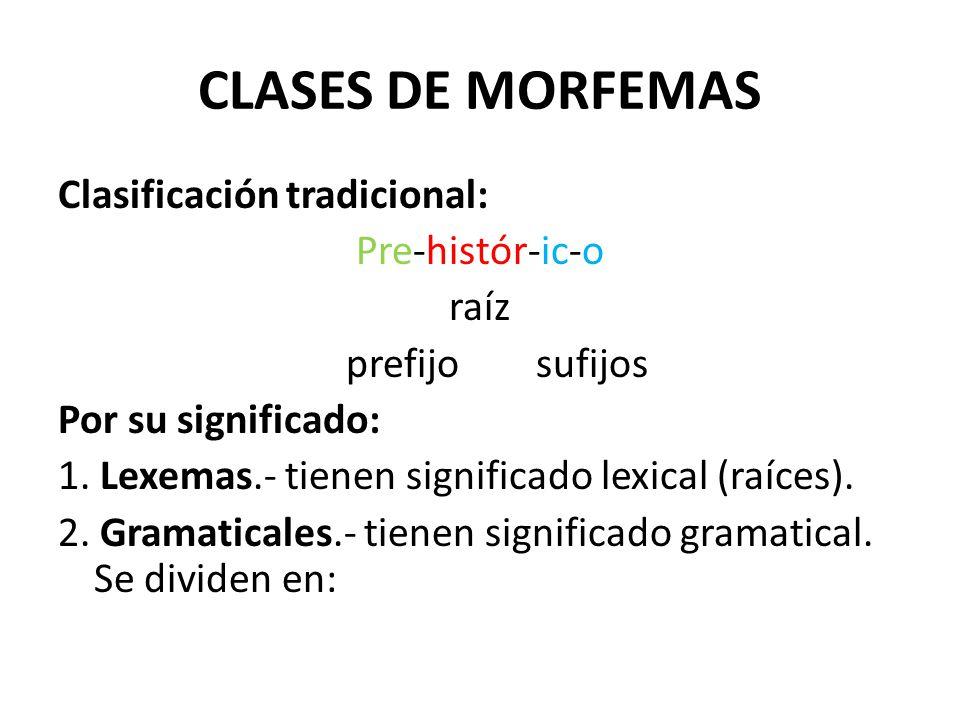 CLASES DE MORFEMAS