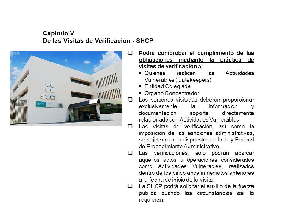 De las Visitas de Verificación - SHCP
