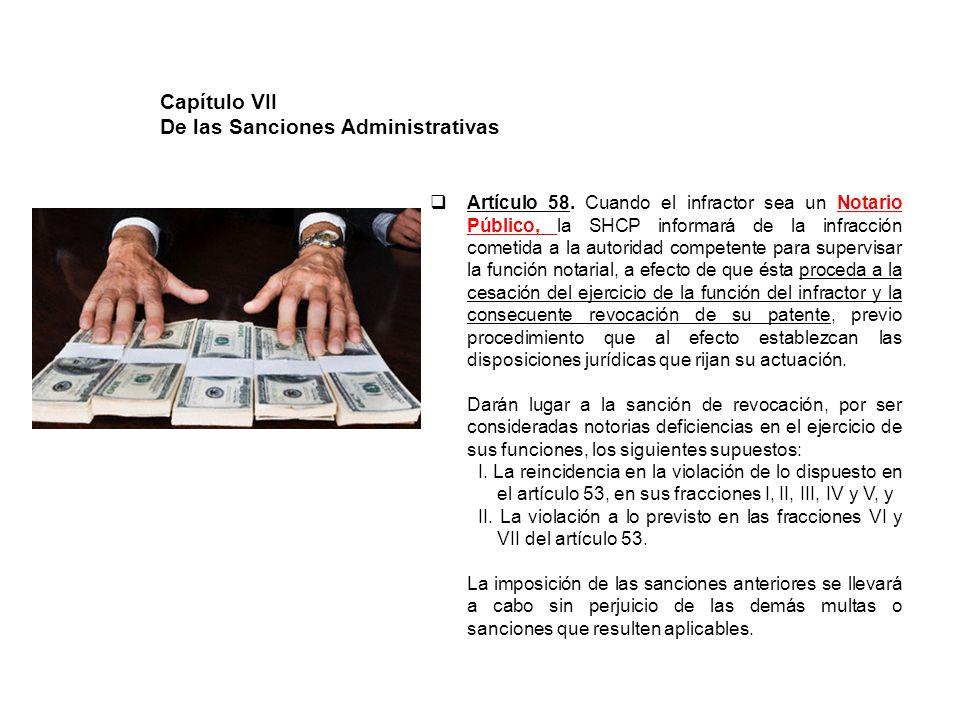 De las Sanciones Administrativas