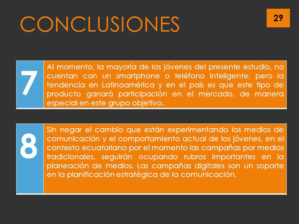CONCLUSIONES 7.