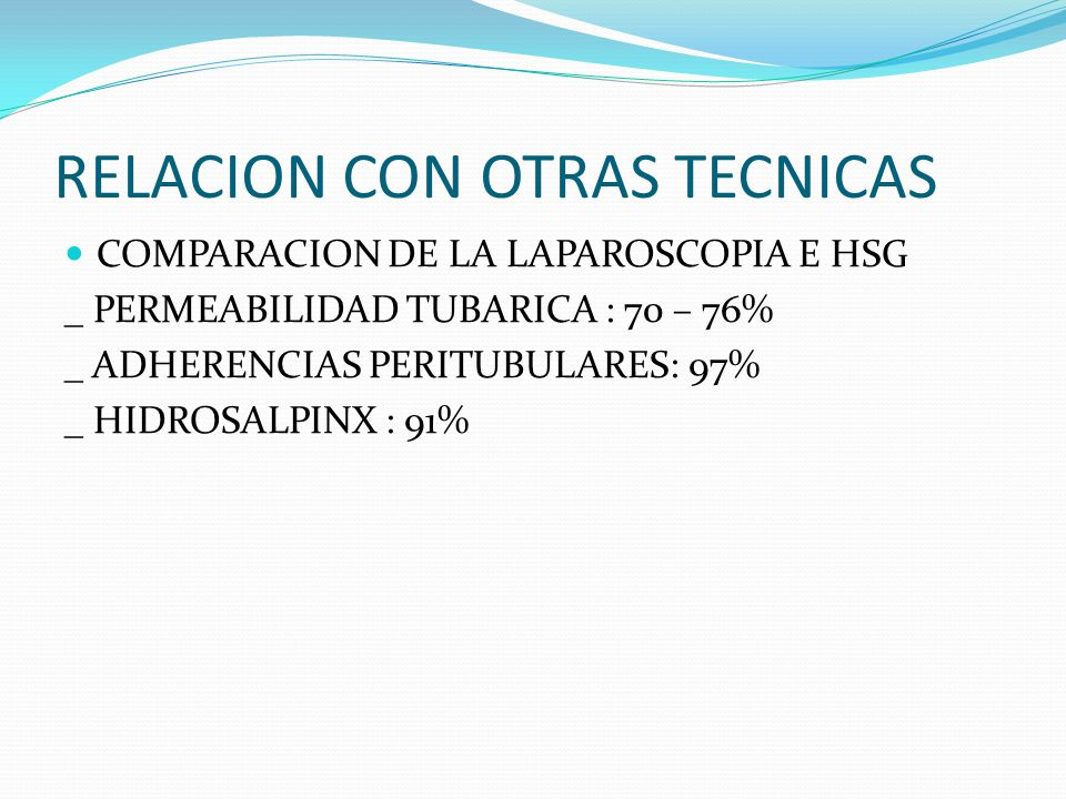 RELACION CON OTRAS TECNICAS