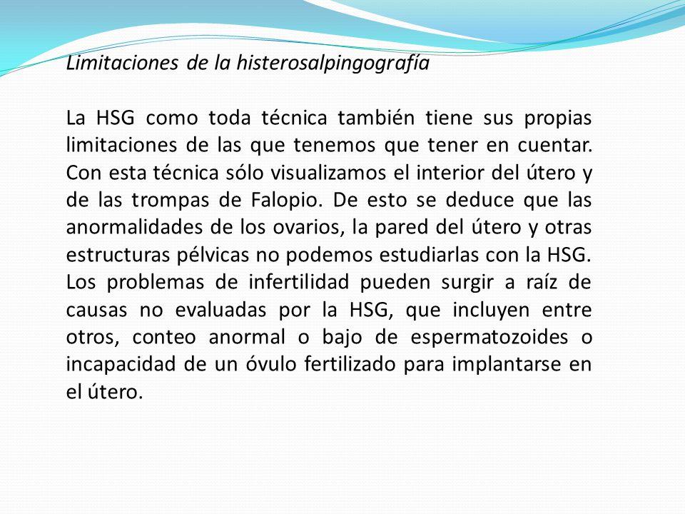Limitaciones de la histerosalpingografía