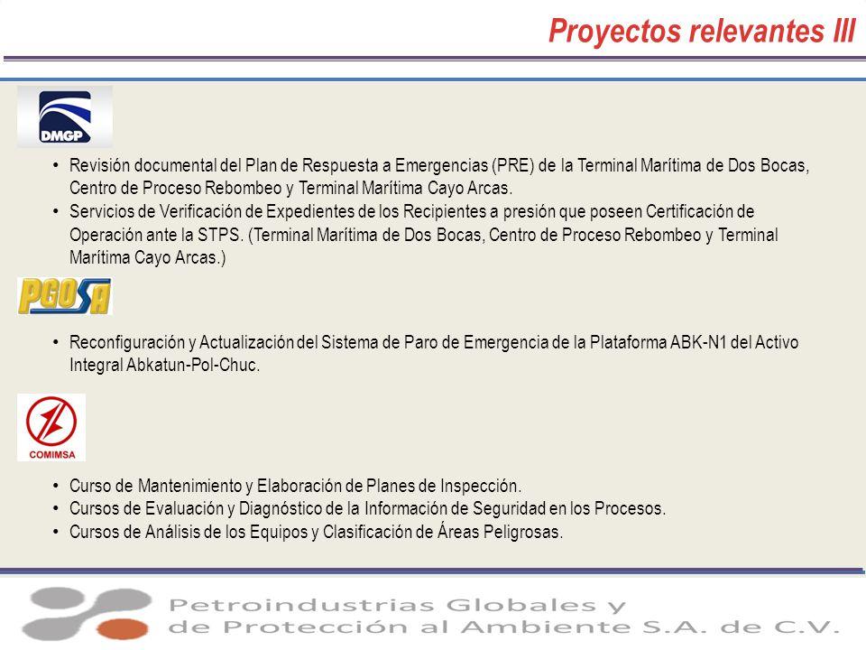 Proyectos relevantes III