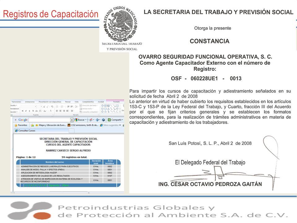 Registros de Capacitación
