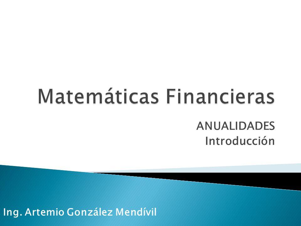 Matemáticas Financieras