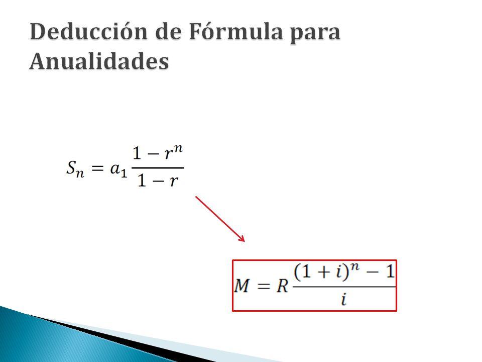Deducción de Fórmula para Anualidades