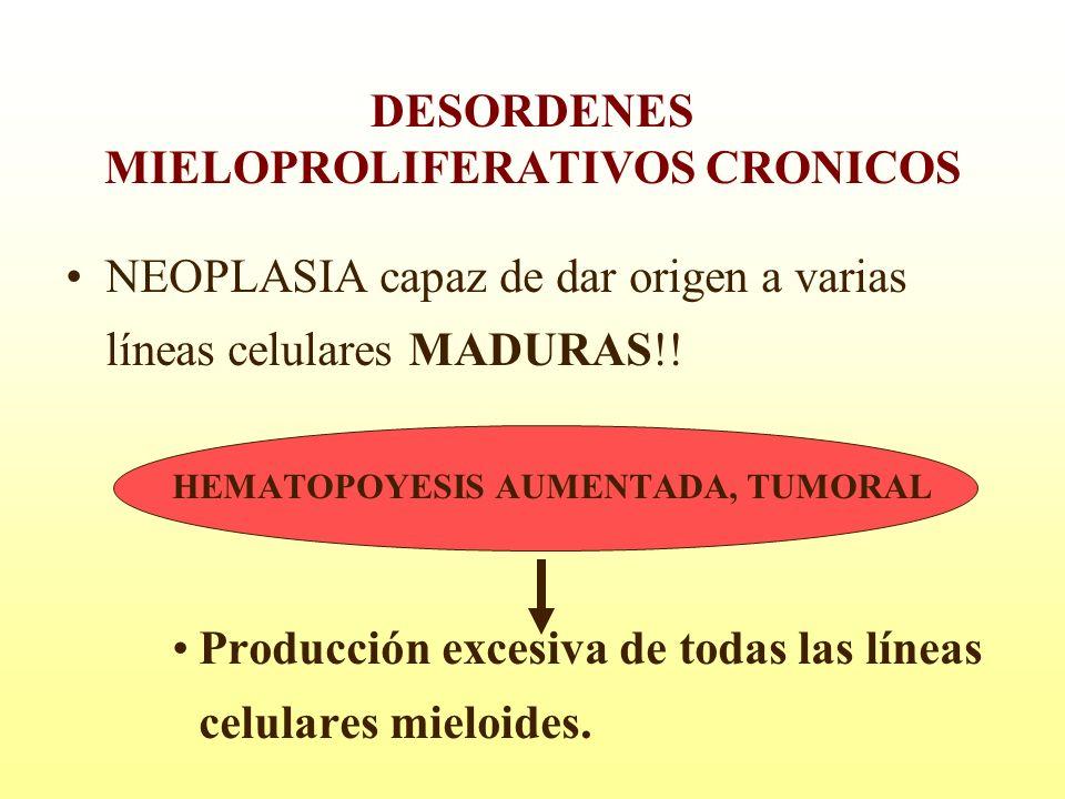 DESORDENES MIELOPROLIFERATIVOS CRONICOS