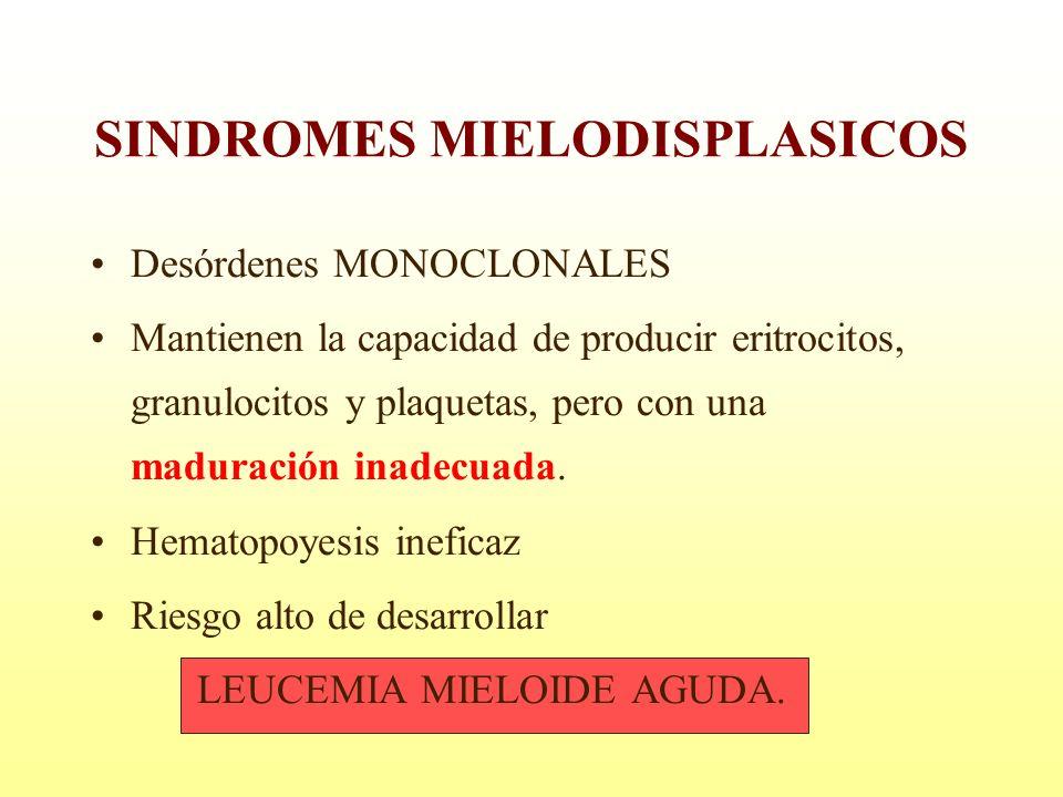 SINDROMES MIELODISPLASICOS