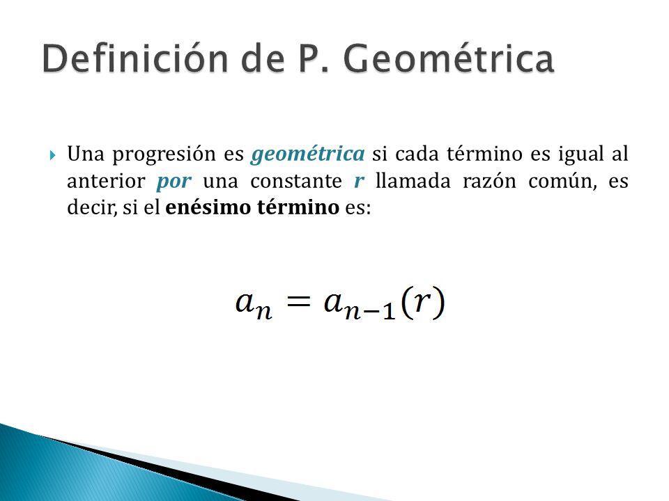 Definición de P. Geométrica