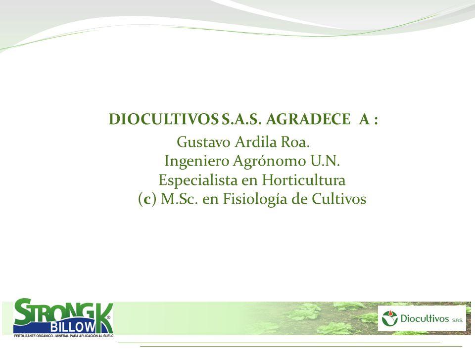 DIOCULTIVOS S.A.S. AGRADECE A :