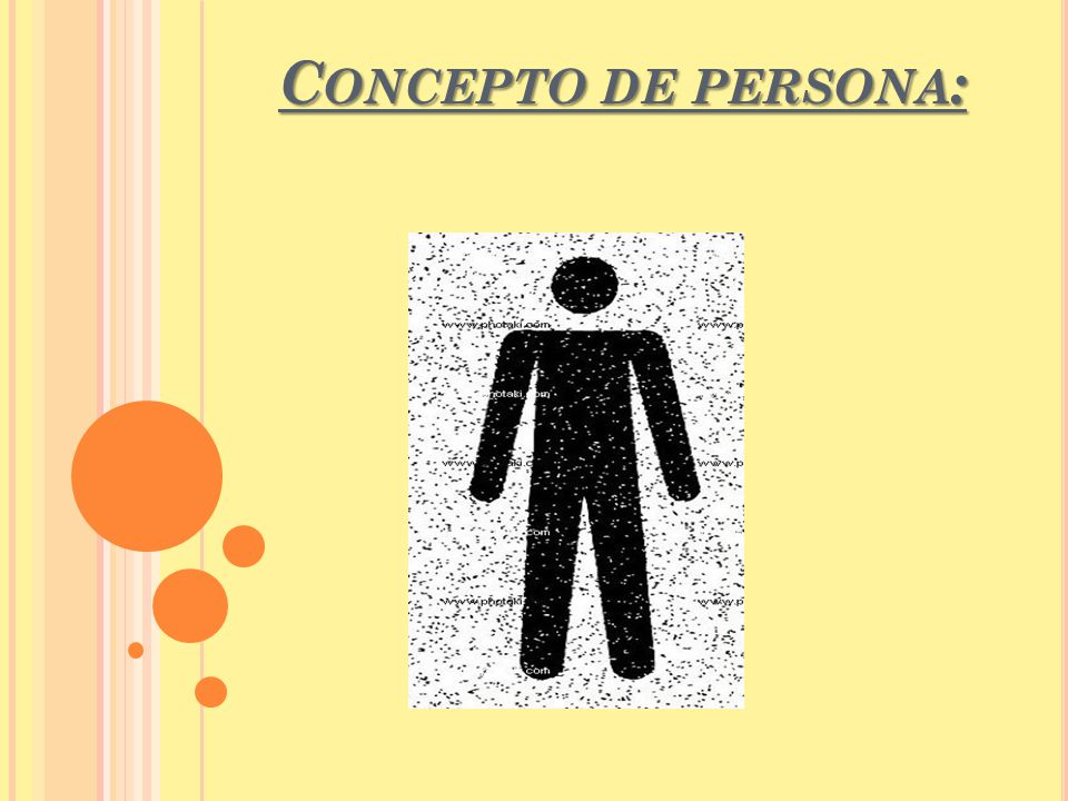 Concepto de persona: