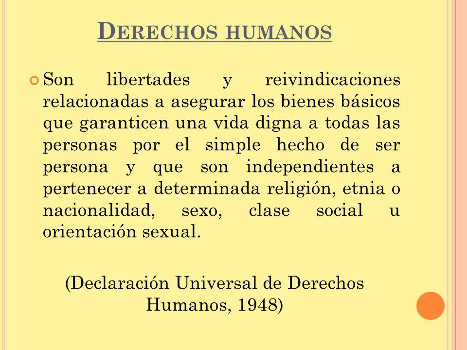 (Declaración Universal de Derechos Humanos, 1948)