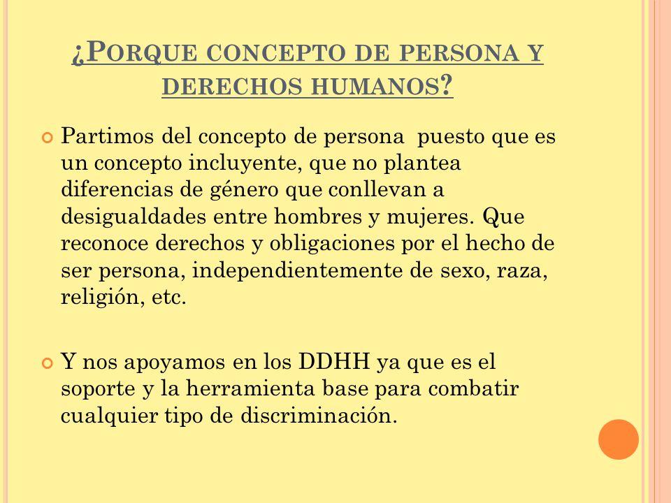 ¿Porque concepto de persona y derechos humanos