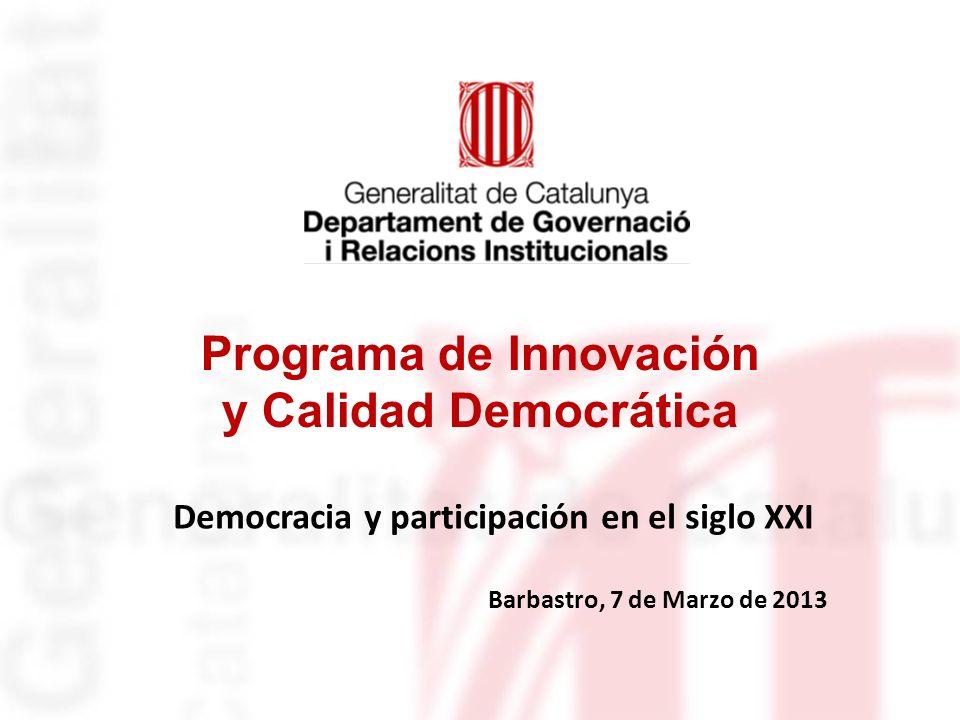 Programa de Innovación y Calidad Democrática