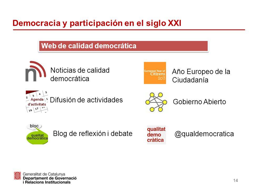 Democracia y participación en el siglo XXI