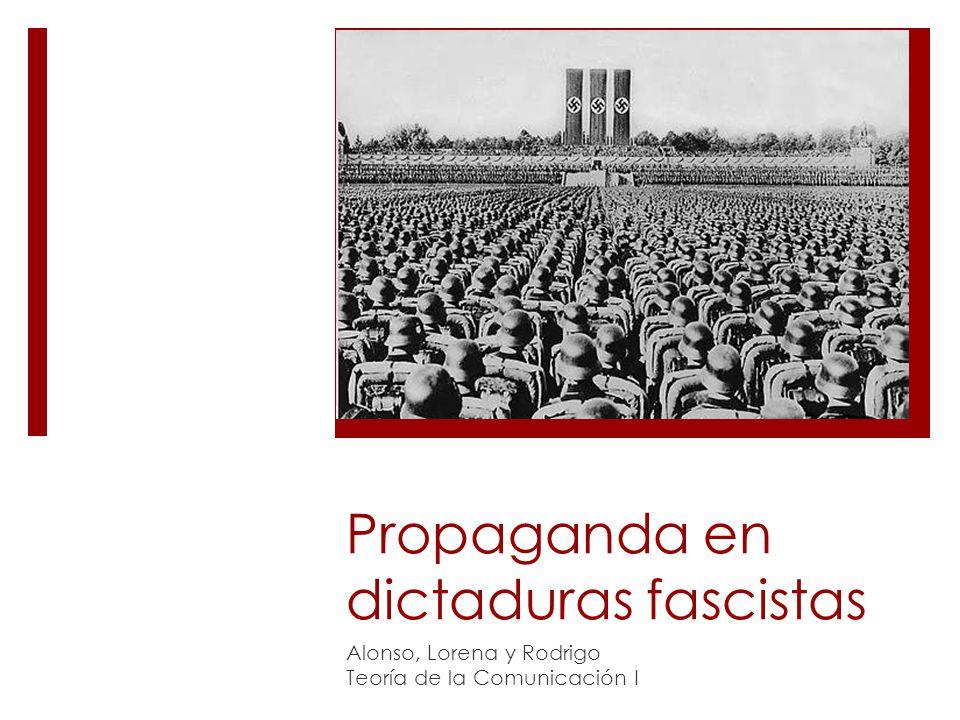 Propaganda en dictaduras fascistas