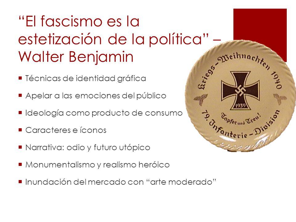 El fascismo es la estetización de la política – Walter Benjamin