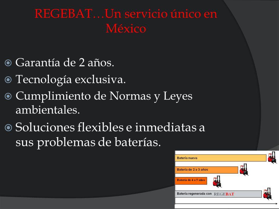 REGEBAT…Un servicio único en México