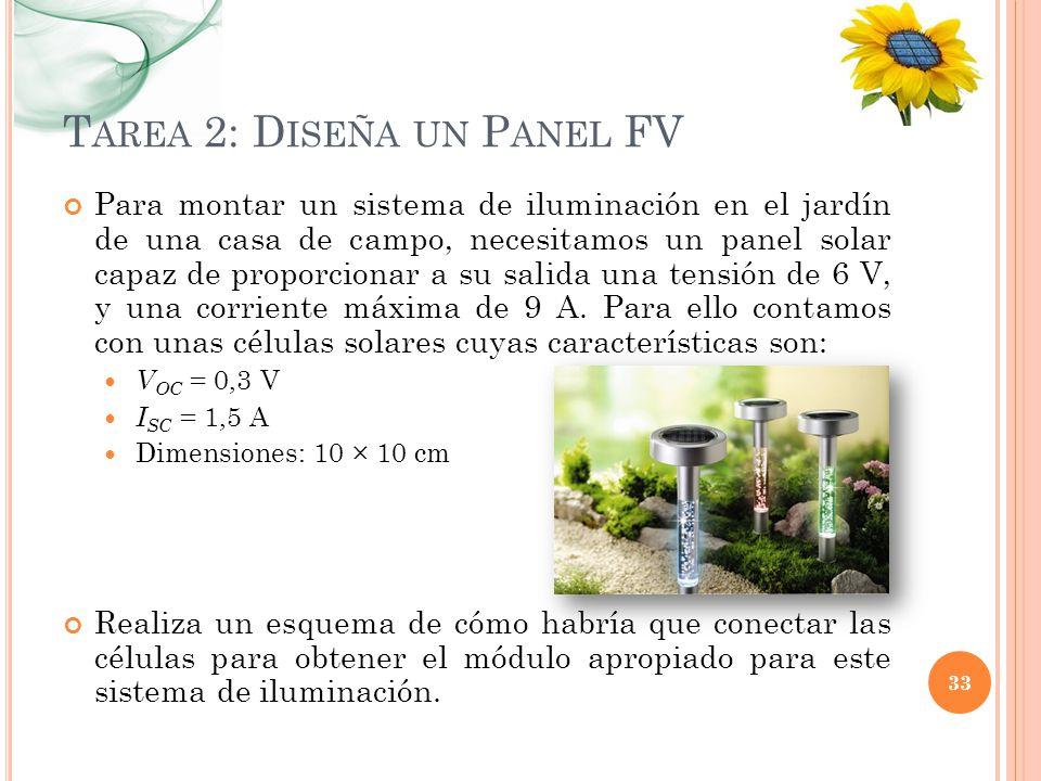 Tarea 2: Diseña un Panel FV