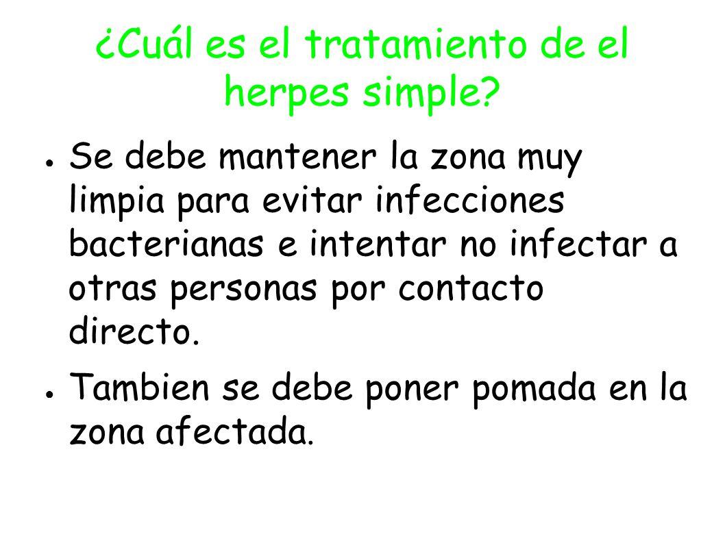 ¿Cuál es el tratamiento de el herpes simple