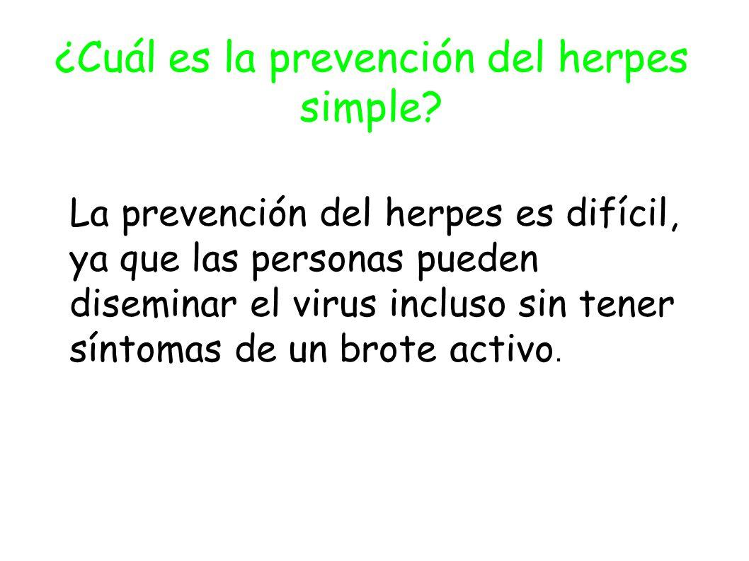 ¿Cuál es la prevención del herpes simple