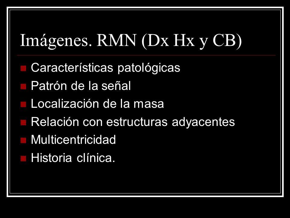 Imágenes. RMN (Dx Hx y CB)