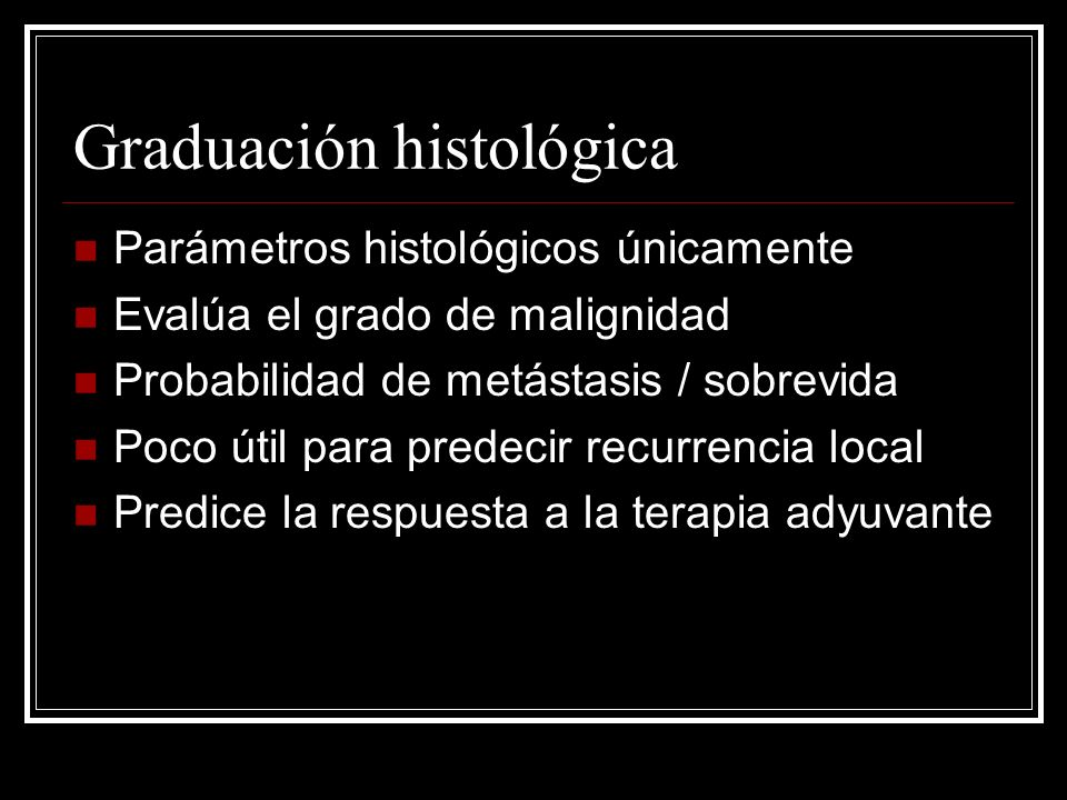 Graduación histológica