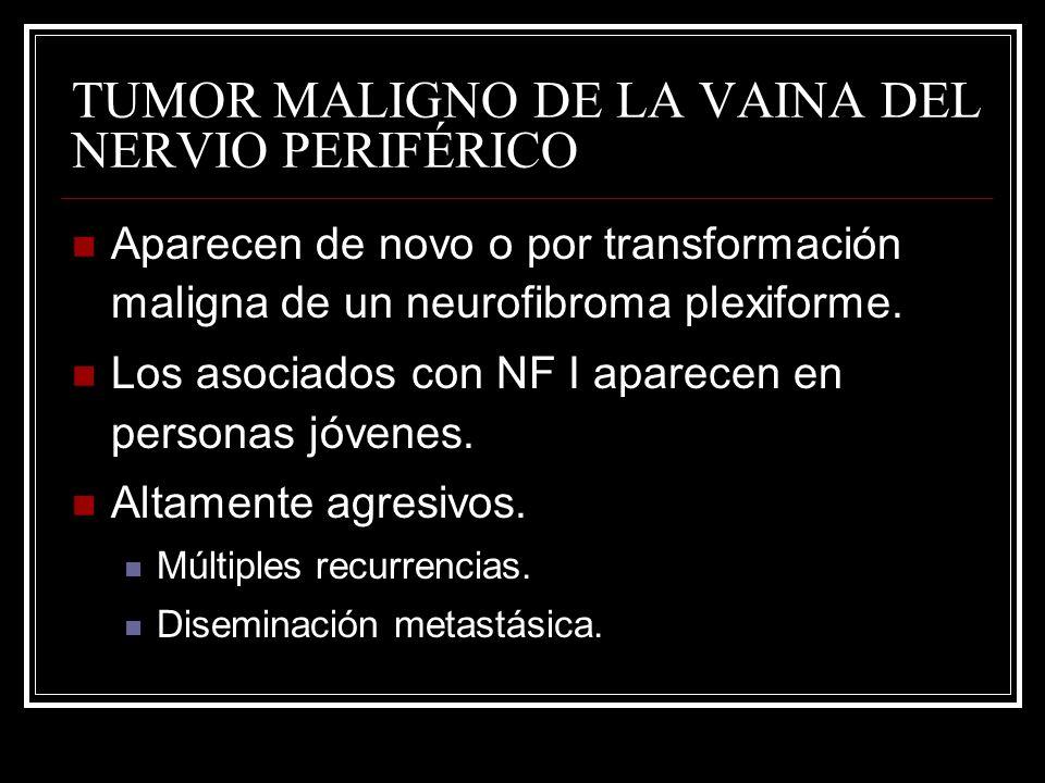 TUMOR MALIGNO DE LA VAINA DEL NERVIO PERIFÉRICO