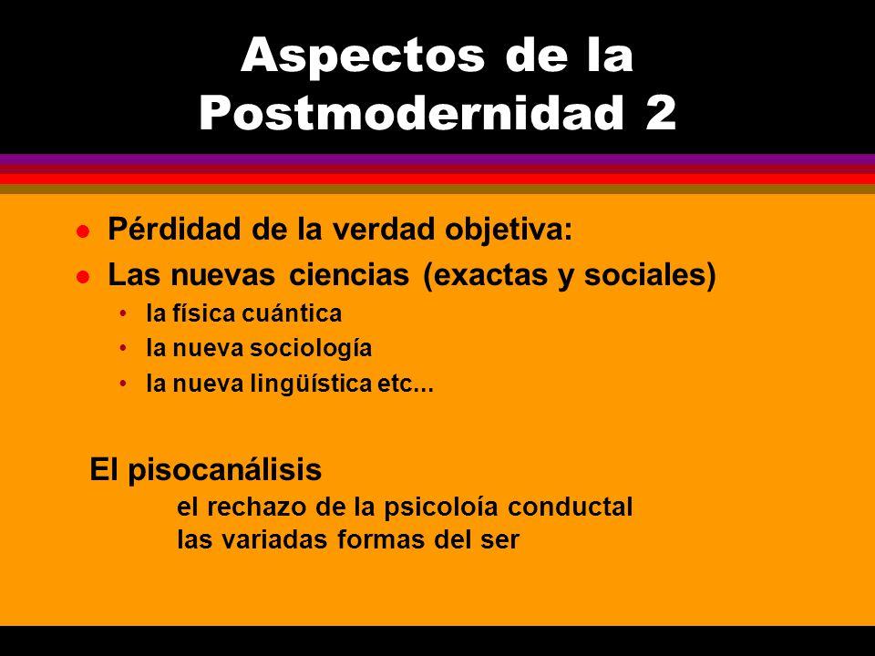 Aspectos de la Postmodernidad 2