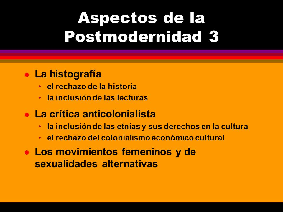 Aspectos de la Postmodernidad 3