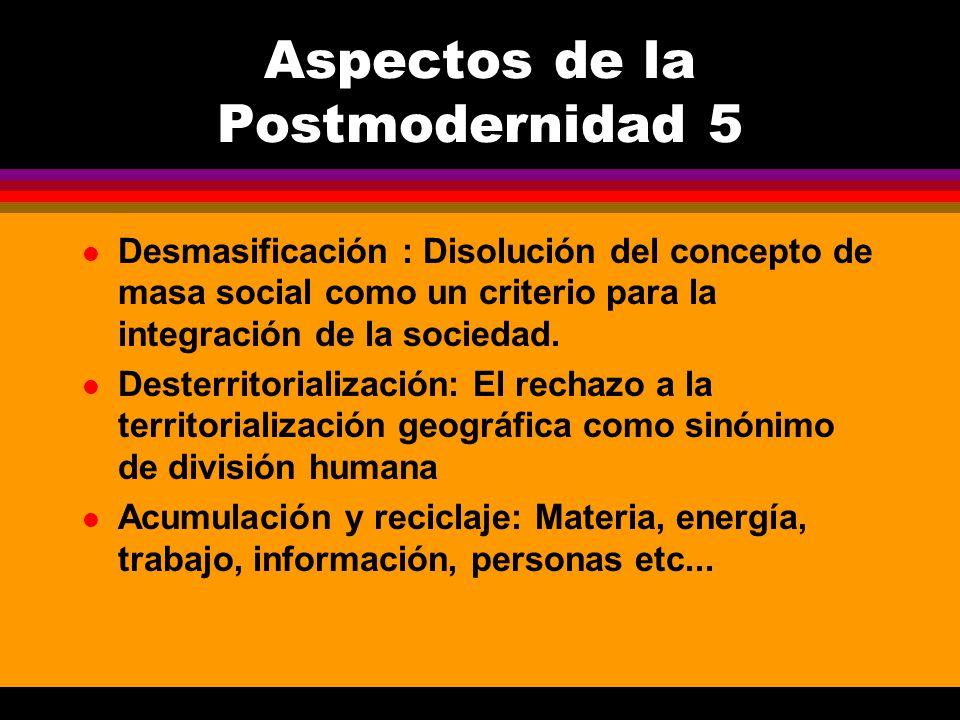 Aspectos de la Postmodernidad 5