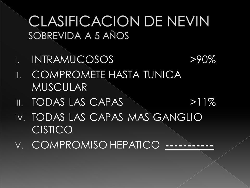 CLASIFICACION DE NEVIN SOBREVIDA A 5 AÑOS