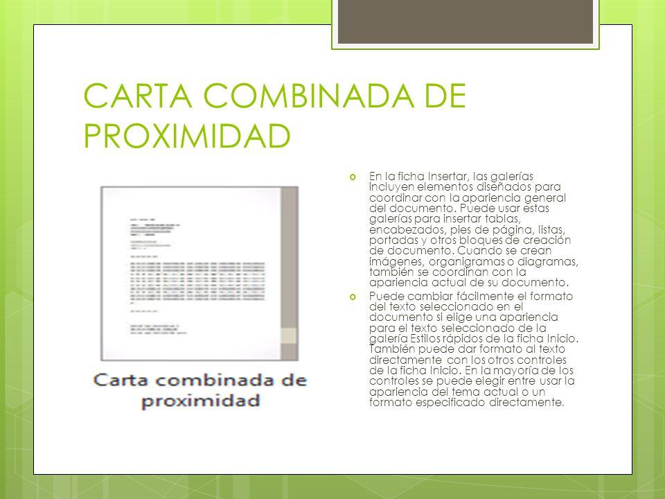 CARTA COMBINADA DE PROXIMIDAD