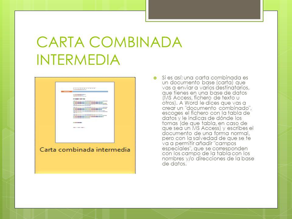 CARTA COMBINADA INTERMEDIA