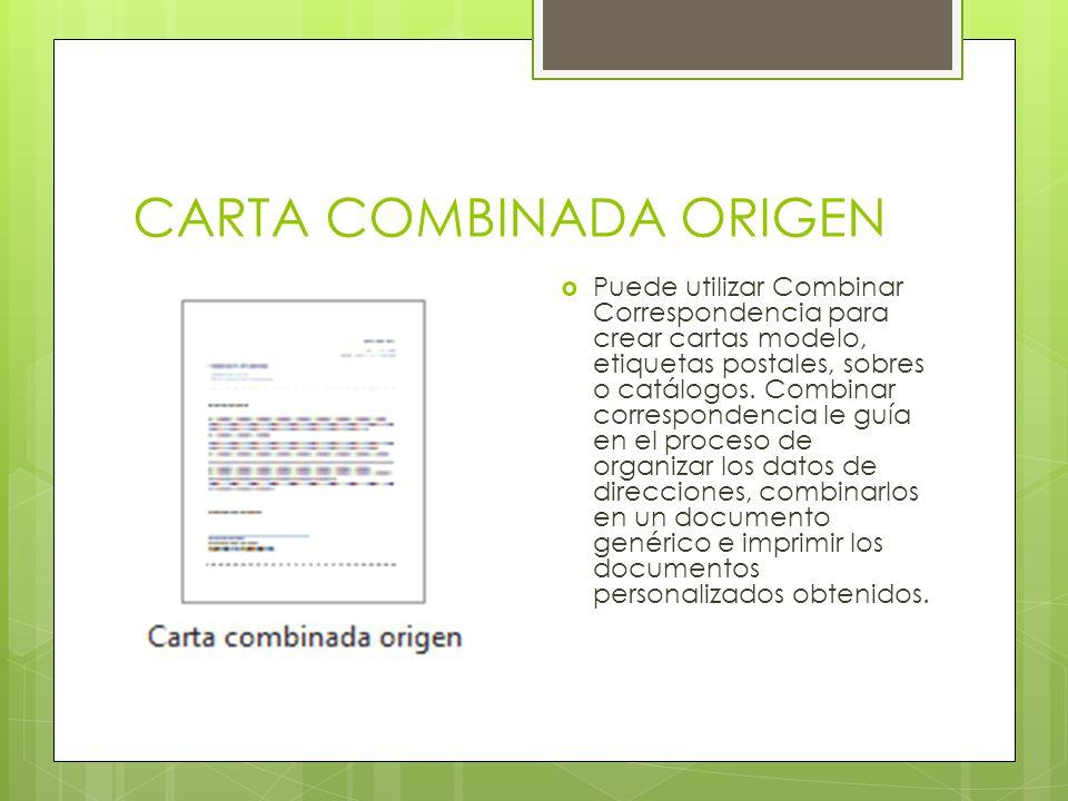 CARTA COMBINADA ORIGEN