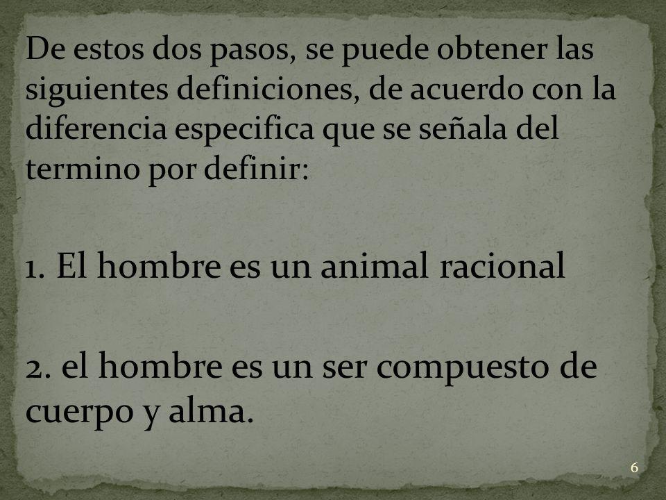 1. El hombre es un animal racional