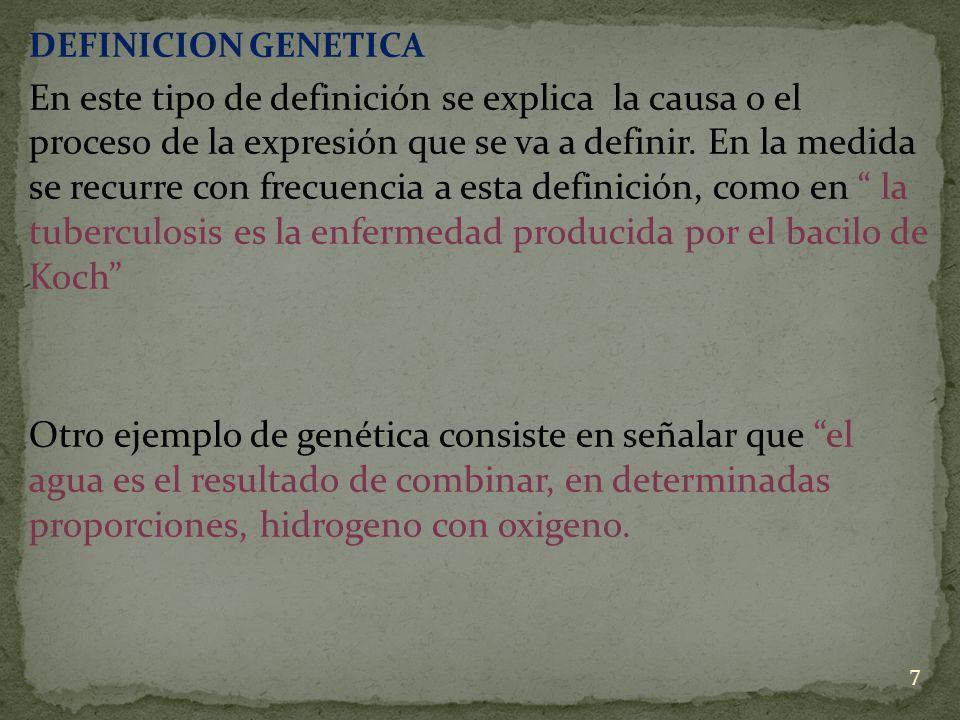 DEFINICION GENETICA