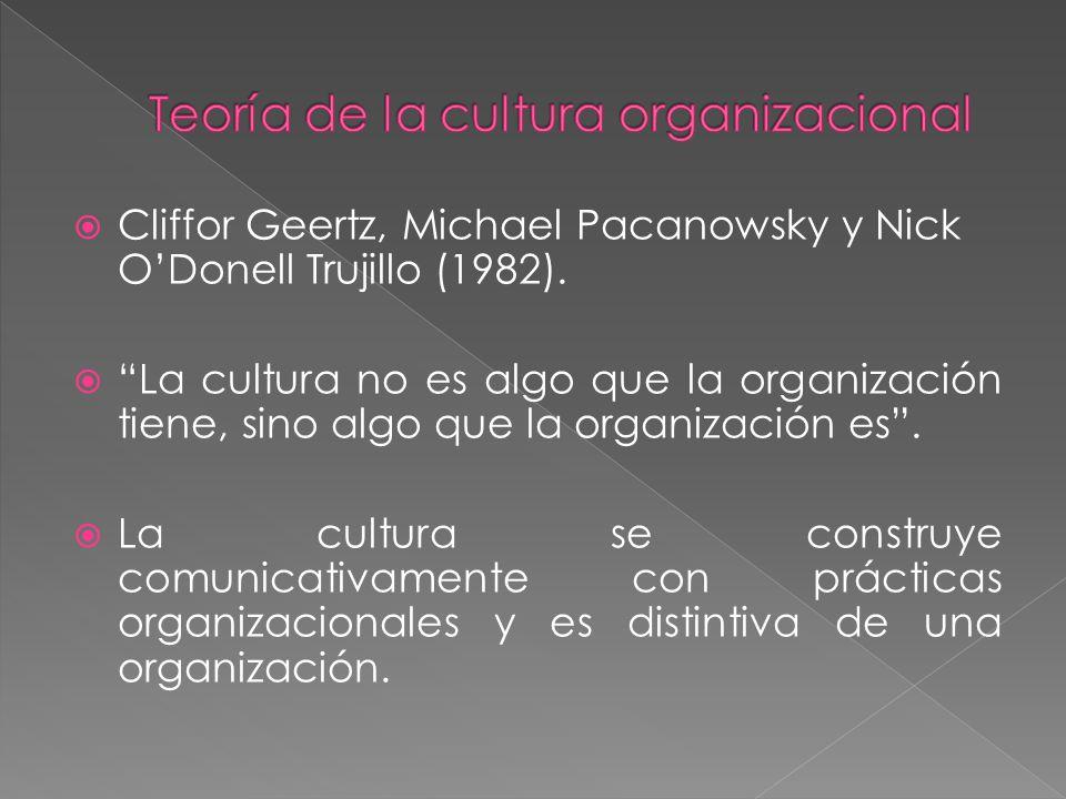 Teoría de la cultura organizacional