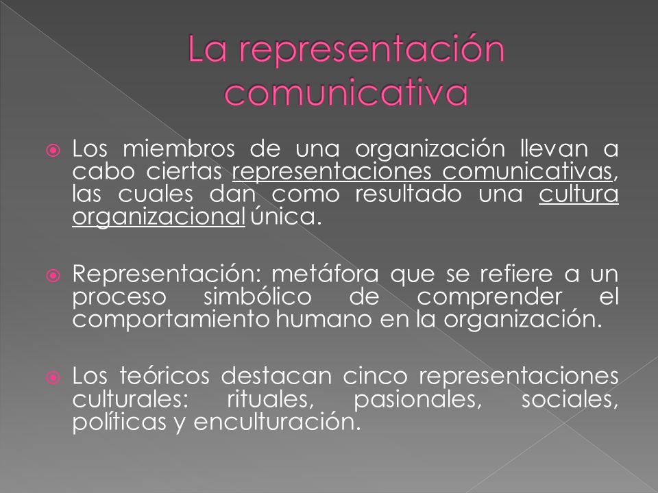 La representación comunicativa