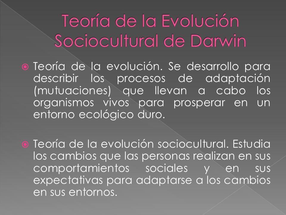Teoría de la Evolución Sociocultural de Darwin