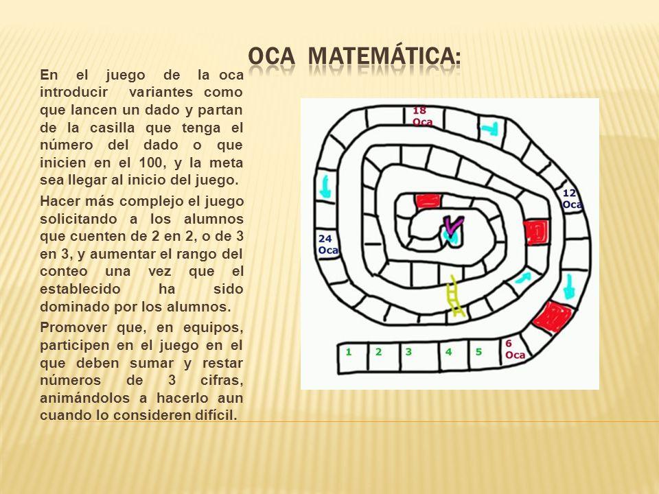 Oca matemática: