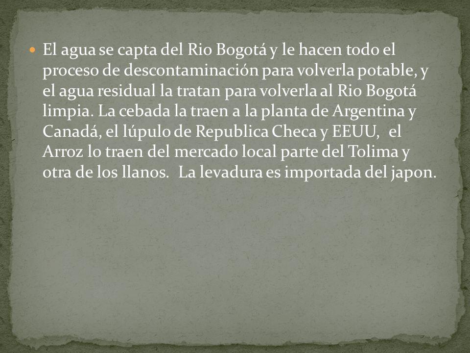 El agua se capta del Rio Bogotá y le hacen todo el proceso de descontaminación para volverla potable, y el agua residual la tratan para volverla al Rio Bogotá limpia.