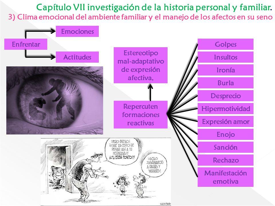 Capítulo VII investigación de la historia personal y familiar.