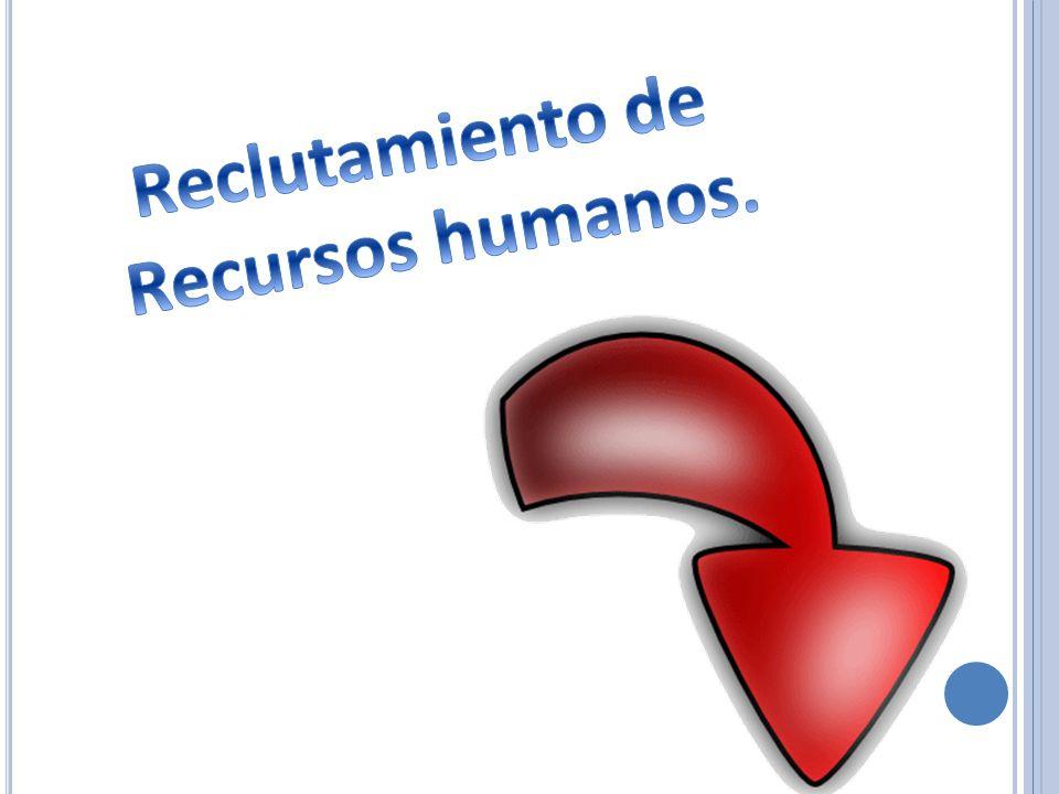 Reclutamiento de Recursos humanos.