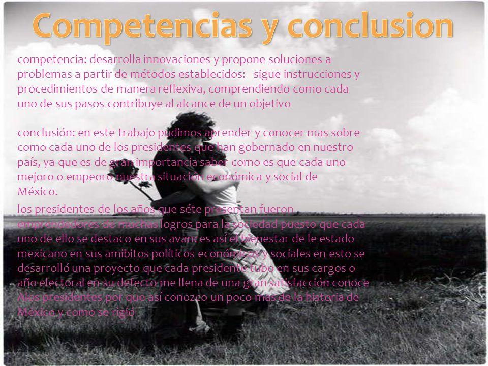 Competencias y conclusion
