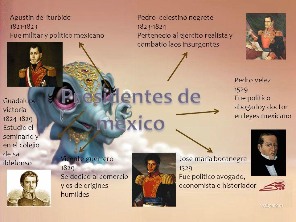 Presidentes de mexico Agustin de iturbide 1821-1823