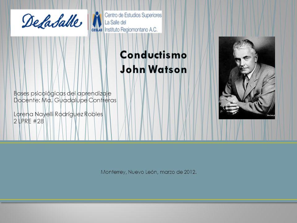 Conductismo John Watson
